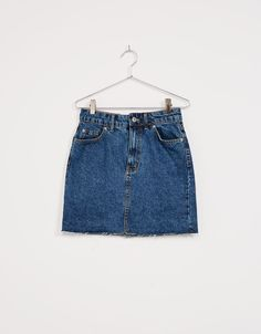 Falda denim - Denim Collection - Bershka España Summer Outfits, Casual Outfits, Cute Outfits, Fashion Outfits, Forever 21 Girls, Style Casual, New Wardrobe, Shorts, Short Girls