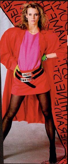 lori singer in stephen sprouse, elle editorial 1984