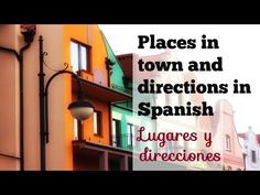 "This video covers some common places around town in Spanish and how to give directions in Spanish. It shows the names of 18 places in Spanish and some useful phrases and questions to ask and give directions and describe ""una ciudad"" using simple adjectives and the verb SER. Find several conversations in the main Spanish lesson. Enjoy ;)"