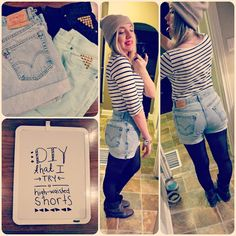 DIY That I Try: Blast from the past: DIY high-waisted shorts