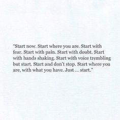 just start.