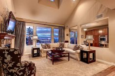 Great layout in this open kitchen/great room...and check out those views!