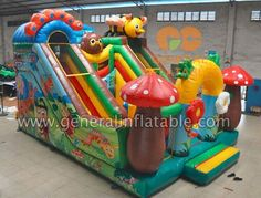 GF-92 Garden funland Size meter:7.7mLx5.8mWx5.2mH Size feet: 25ftLx19ftWx17ftH #inflatablefunland #bouncefunland