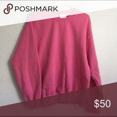Brandy Melville bright pink Erica sweatshirt NWT Brandy Melville Tops Sweatshirts & Hoodies