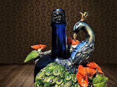 Glass Bottle Crafts, Diy Bottle, Bottle Art, Glass Bottles, Beer Bottle, Waste Paper, Basic Shapes, Bottle Painting, Paper Clay