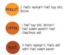 apricot, copper, rust