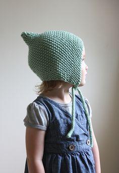 Ravelry: Knit Pixie Bonnet Pattern - Baby Bonnet Pattern - Hat Pattern - Knit Baby Hat Pattern - Baby Knitting Pattern pattern by Hilary Fra...