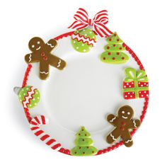 Christmas Cookie Dinner Plate