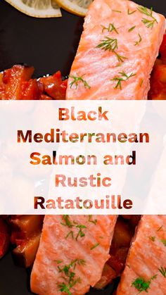 Savory Salmon Recipe, Baked Salmon, Salmon Recipes, Mediterranean Salmon, Mediterranean Recipes, A Food, Good Food, Fig Jam, Snack Recipes