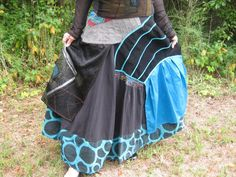 SALE! Upcycled Lagenlook/Gypsy/Shabby Chic/Boho  long maxi  patchwork skirt
