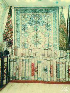 Silkcarpets. In grand bazaar. Istanbul/turkey