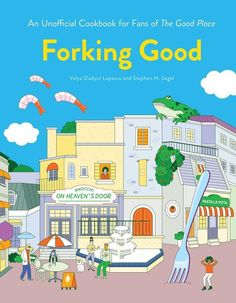 """Read """"Forking Good An Unofficial Cookbook for Fans of The Good Place"""" by Valya Dudycz Lupescu available from Rakuten Kobo. For fans of NBC's The Good Place, a pun-filled and fully illustrated cookbook of 30 original recipes inspired by the phi. Free Pdf Books, Free Ebooks, Bujo, Cocktail Book, Indie, Cinema, Everything Is Fine, Romance, After Life"""