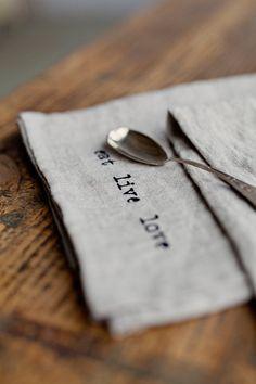 Stone washed linen napkins set hand printed by MagicLinen on Etsy Linen Napkins, Cloth Napkins, Napkins Set, Textiles, Textile Prints, Diy Fashion No Sew, Fabric Stamping, Star Diy, Elegant Table