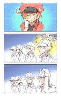 Cosplay Manga Hataraku Saibou (Cells at Work! Haikyuu, Madara Susanoo, Blood Anime, Desenhos Love, Tamako Love Story, Ecchi, Cute Anime Couples, Anime Ships, I Love Anime