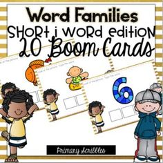 Are you 1:1? Are you looking for a fun way to practice the skill of short i word families in your classroom? This online and interactive activity is perfect for the digital classroom. In this product, you get a link to a website. This activity contains 20 questions relating to the topic of short i word families. Please check out the preview above to view four of the deck cards.