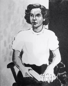 M.L. Moore, oil portrait of his fiance, Henrietta Robins Eliot, 1948.