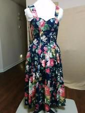 BUY IT NOW! ALWAYS FREE SHIPPING! 50's Style Cotton Sun Dress Sweetheart Neckline Full Skirt Moda Intl Size Small  | eBay