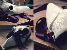 This big boy is now ready to reach London and its Royal ravens! #whiteraven #etsy #ravenmask