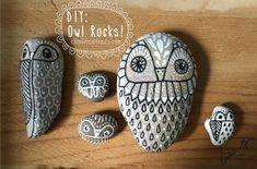 Diy hand-painted owl rocks  Pinned by www.myowlbarn.com