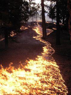 fire river