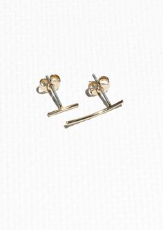 & Other Stories image 1 of Asymmetrical Studs in Gold