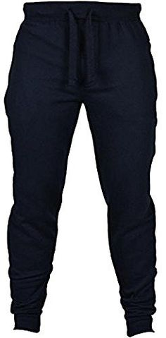 Abetteric Mens Pockets Relaxed-Fit Lace-up Mid Waist Gym Running Jogger Bottom Pants