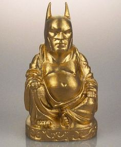 Golden Batman Pop-Culture Buddha by Chris Milnes