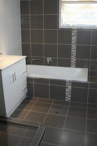 Brown and White bathroom renovation in Brisbane #Prominade #Bathroom #Renovation #Brown #White