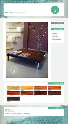 $990 Mesa Ratona De Madera Con Patas Cromadas 85cm X 85cm - $ 790,00 en MercadoLibre