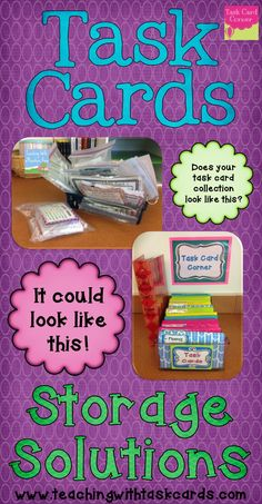 Organize all those task cards!
