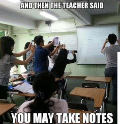 Note taking in the 21st century ... This is so funny