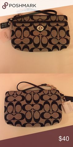 Coach wristlet Black authentic coach wristlet. Never been used. Tags attached. Coach Bags Clutches & Wristlets