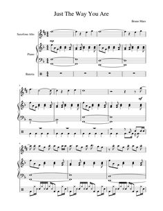 Saxophone Notes, Saxophone Sheet Music, Piano Sheet Music, Music Sheets, Free Sheet Music, Gibson Les Paul, Custom Guitars, The Way You Are, Indie Music