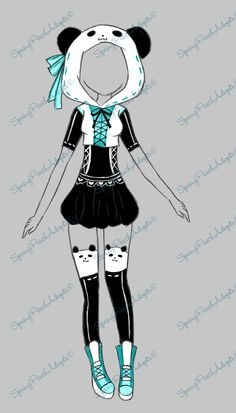 Pin by CoffeePanda on Clothing Ideas Anime Uniform, Fashion Design Drawings, Fashion Sketches, Drawing Anime Clothes, Clothing Sketches, Illustration Mode, Anime Dress, Drawing Base, Character Outfits