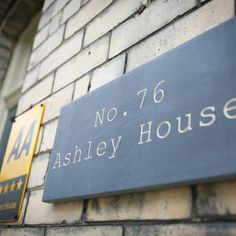 Ashley House Name Plaque