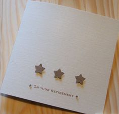 Handmade Retirement Stars Card - Can be personalised £2.69
