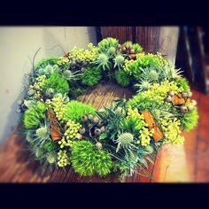 Getting my Christmas wreath on. :) By Opulent Garden Christmas Wreaths, Floral Wreath, Photo And Video, Garden, Instagram, Home Decor, Garten, Decoration Home, Room Decor