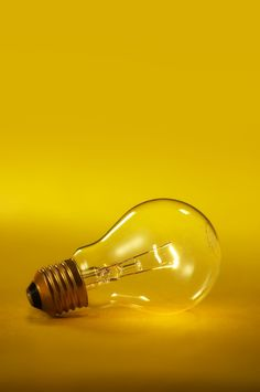 Yellow, light bulb, inspiration, photography, light