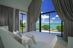Located in Cape Yamu, Phuket, Thailand. This beachfront pool villa is a luxury house has a stunning architecture that inspired by tradition houses in Thailand Interior Exterior, Exterior Design, Beautiful Bedrooms, Beautiful Homes, Amazing Bedrooms, Luxurious Bedrooms, Villas, Villa Phuket, Beachfront Property