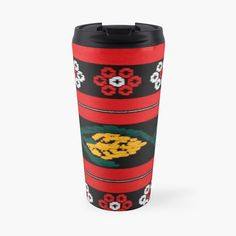 'Traditional folk costume' Travel Mug by StefaniaAlina