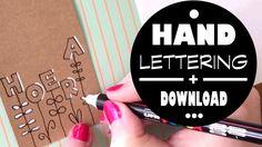 Karin Joan: ZELFMAKEN Handlettering bloemenletters met Marjoleins Creations