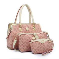 2017 Woman Handbags Female Big Bag Portable 3 piece Suit Mother Carry Bolos Leather Shoulder Tote Bags Messenger Crossbody