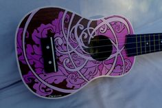 Items similar to Ukulele Handpainted on Etsy Ukulele Stand, Ukulele Art, Cool Ukulele, Ukulele Chords, Painted Ukulele, Painted Guitars, Ukulele Design, Guitar Hanger, Guitars