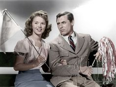 The Bachelor & The Bobby-Soxer:  Cary Grant & Shirley Temple.  Love