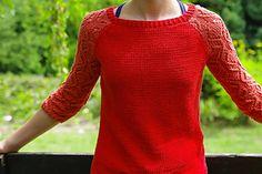 Womens knit sweater pattern. Free.