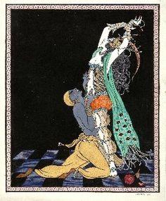 """""""Idat Rubinstein et Vaslav Nijinski"""" par George Barbier (1913)"""