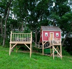 The Eaton Post and Beam Carriage House - traditional - kids - manchester NH - Yankee Barn Homes Backyard Playhouse, Build A Playhouse, Outdoor Playhouses, Playhouse Ideas, Large Backyard Landscaping, Landscaping With Rocks, Yankee Barn Homes, Landscaping Supplies, Playroom Design
