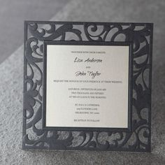 Scrolling Grandeur Layered Laser Cut - Wedding Invitation Sample (BH3600)