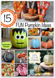15 Fun Pumpkin Ideas for fall and Halloween!