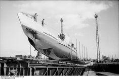 Frankreich, Lorient - U-Boot U 61 auf Slipp
